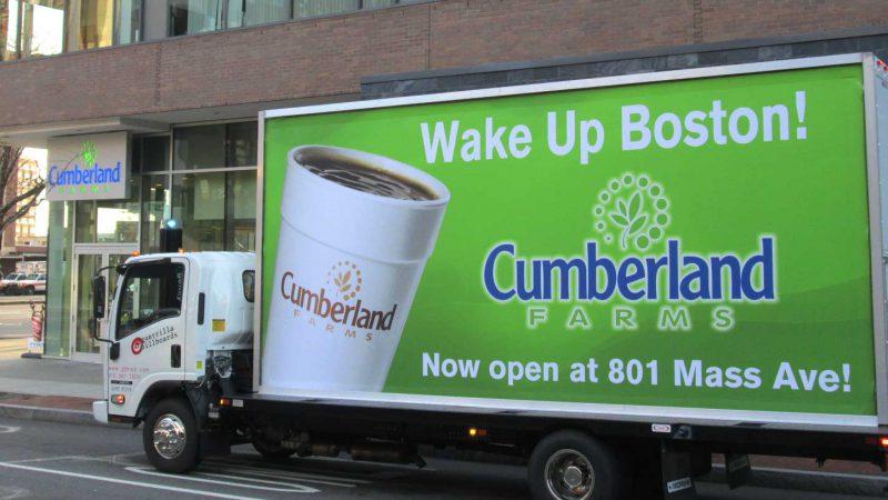 Mobile billboard in Boston