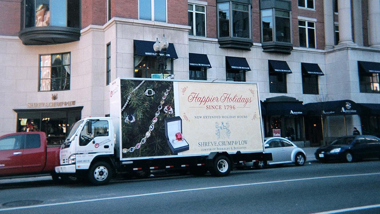 Billboard truck campaign for Shreve Crump & Low