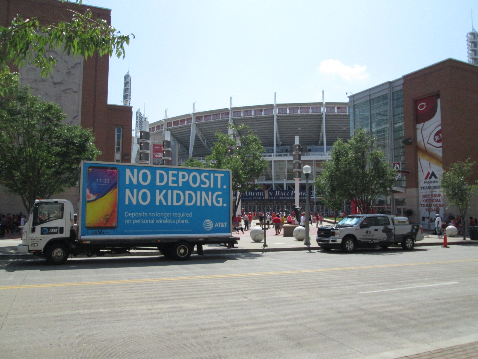 Mobile billboard truck in Cincinnati OH