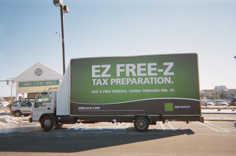 Cape Cod - H&R Block billboard truck