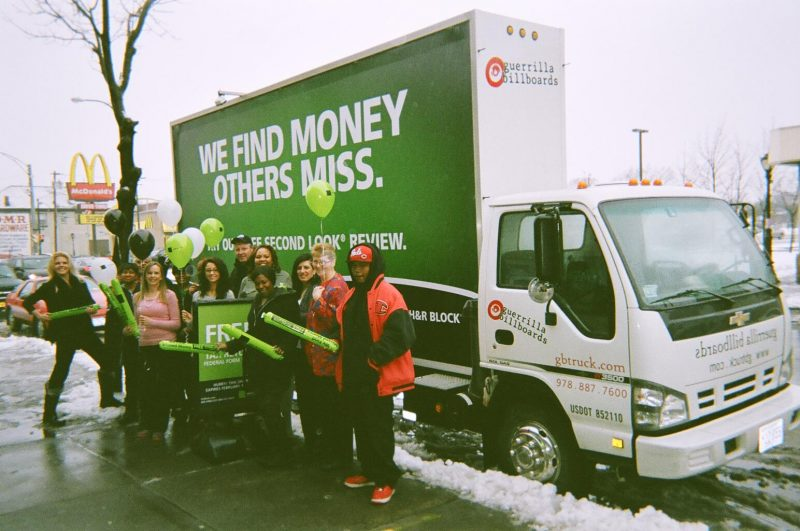 Mobile billboard and street team in Buffalo NY