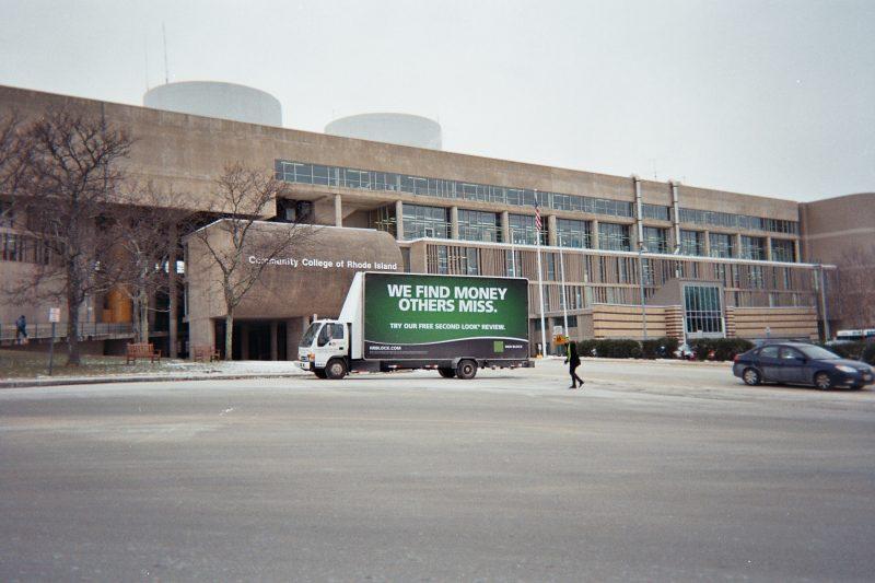 Mobile billboard ad in Warwick, RI