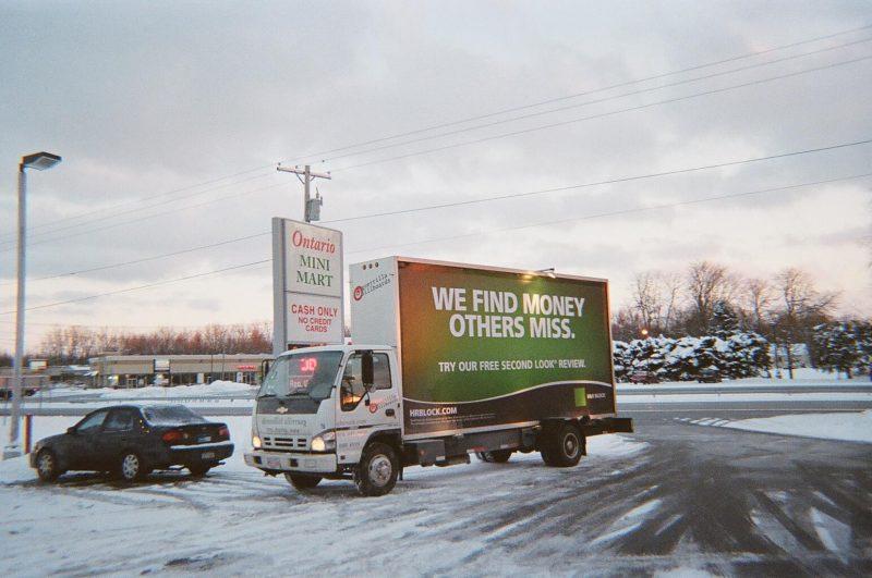 Mobile billboard truck near Rochester NY