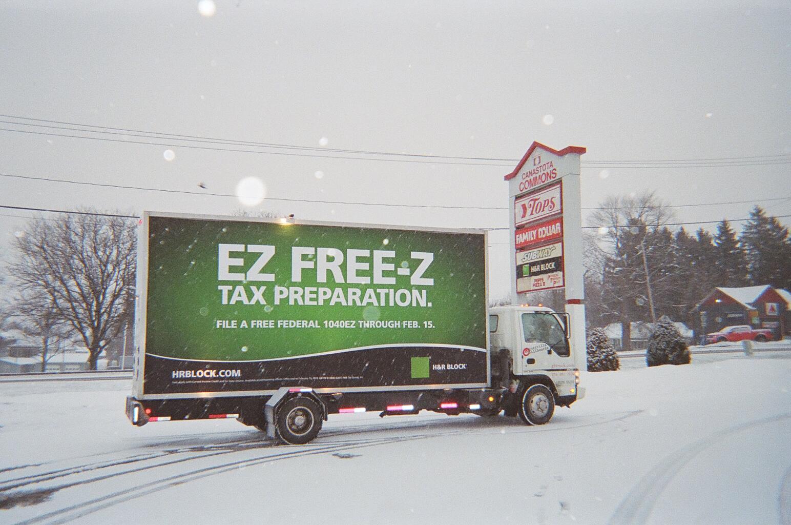 Mobile billboard truck in Canastota, NY