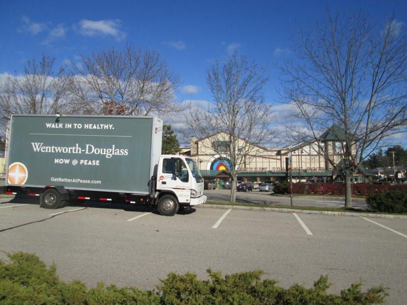 Billboard truck ad in Kittery Maine