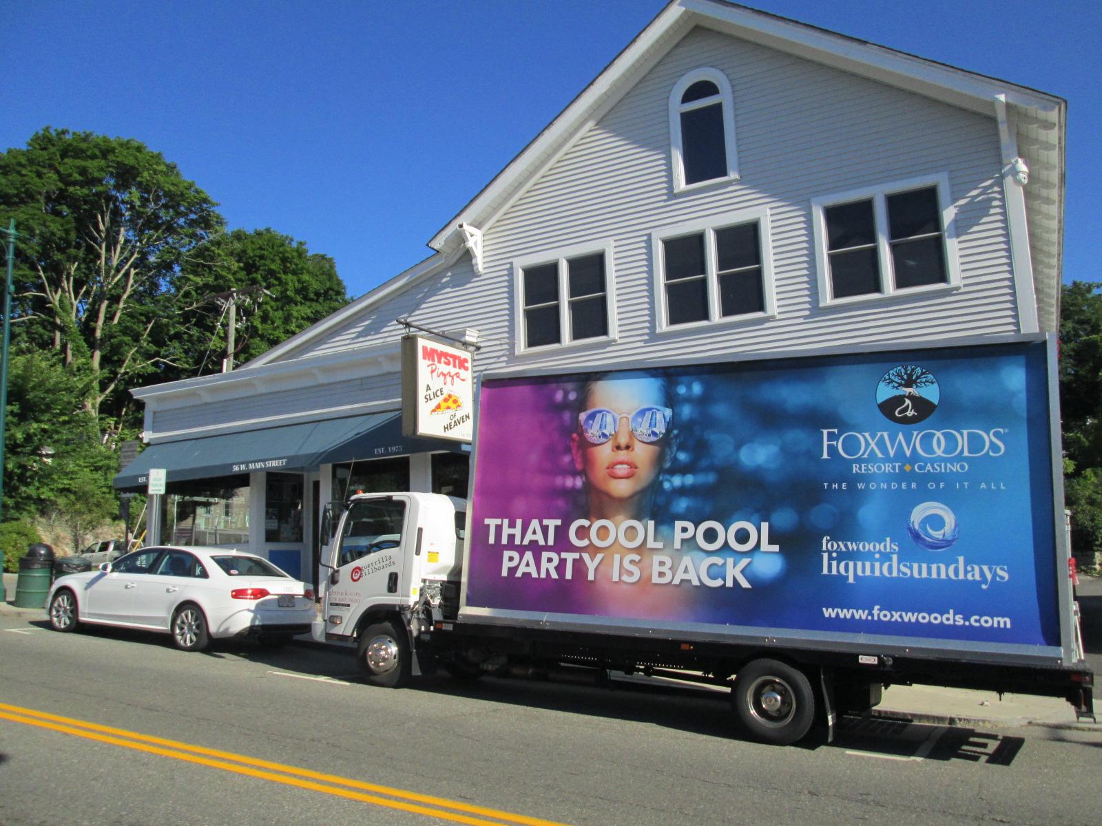 Mobile billboard truck in Mystic CT