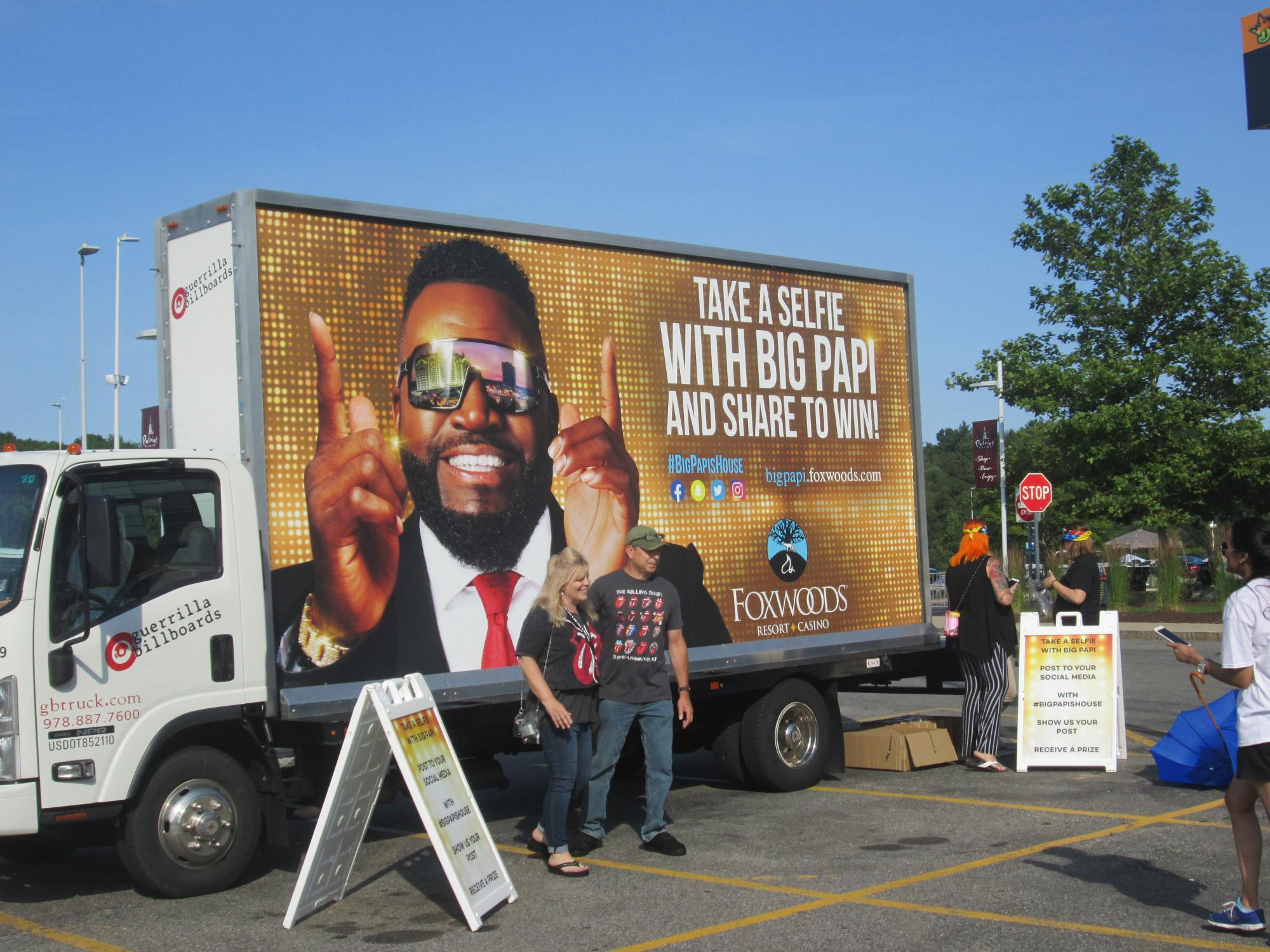 Billboard truck at experiential marketing activation