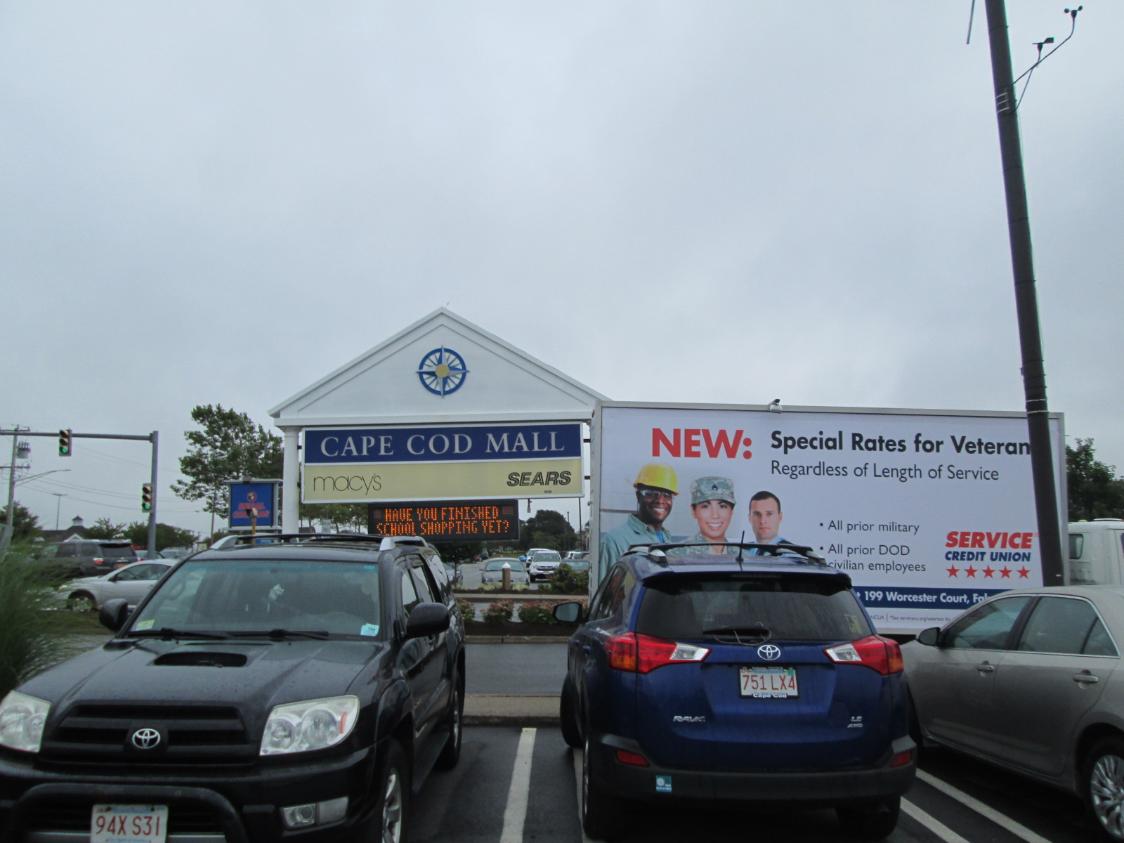 Billboard truck in Hyannis, Cape Cod, MA