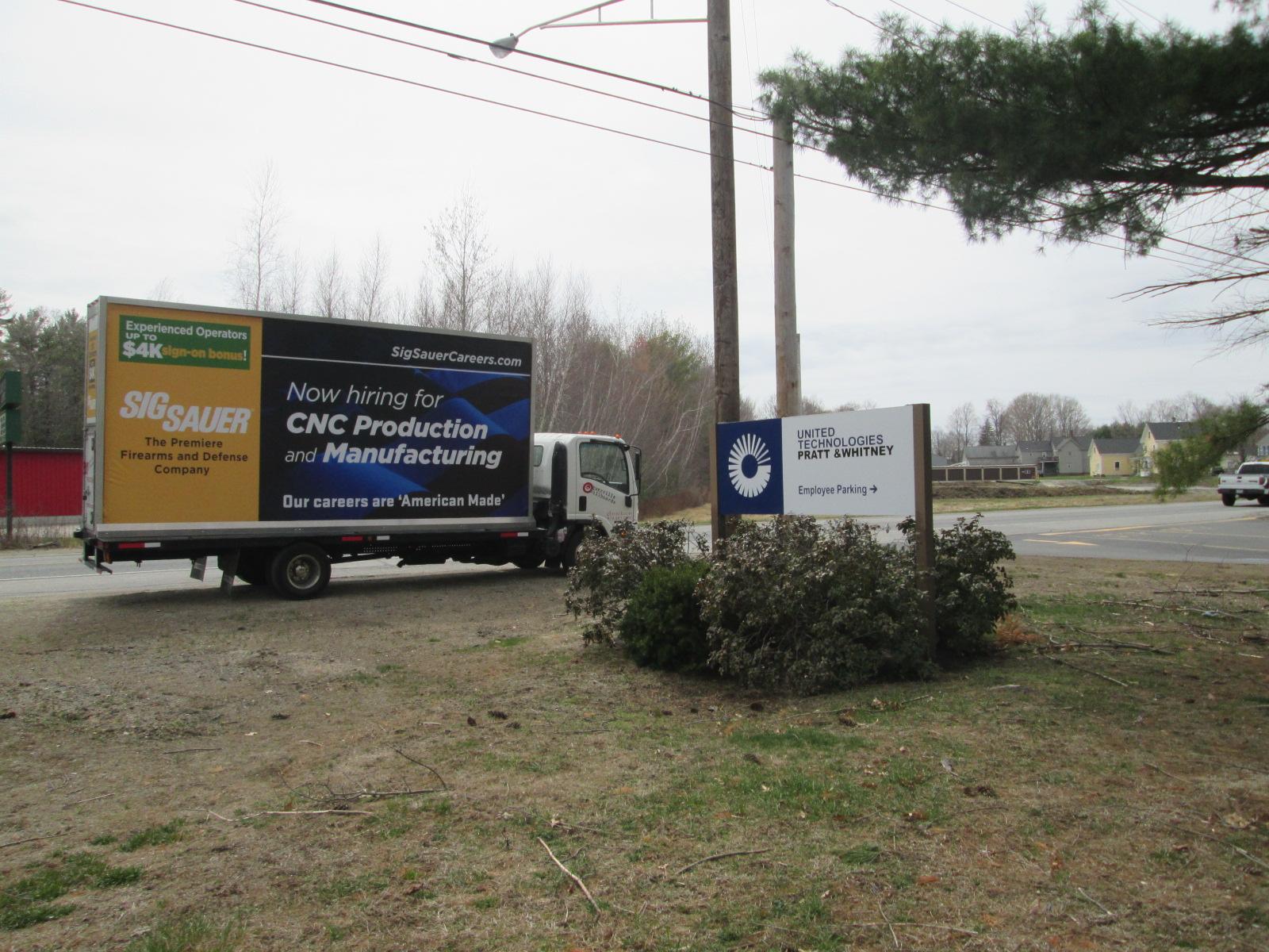 How Hiring billboard truck ad near Portland ME