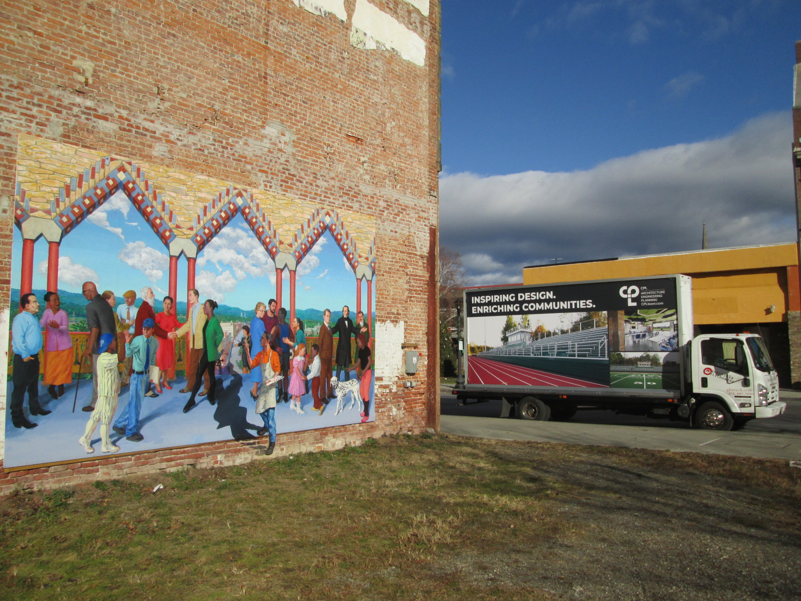 Billboard truck visiting Poughkeepsie NY