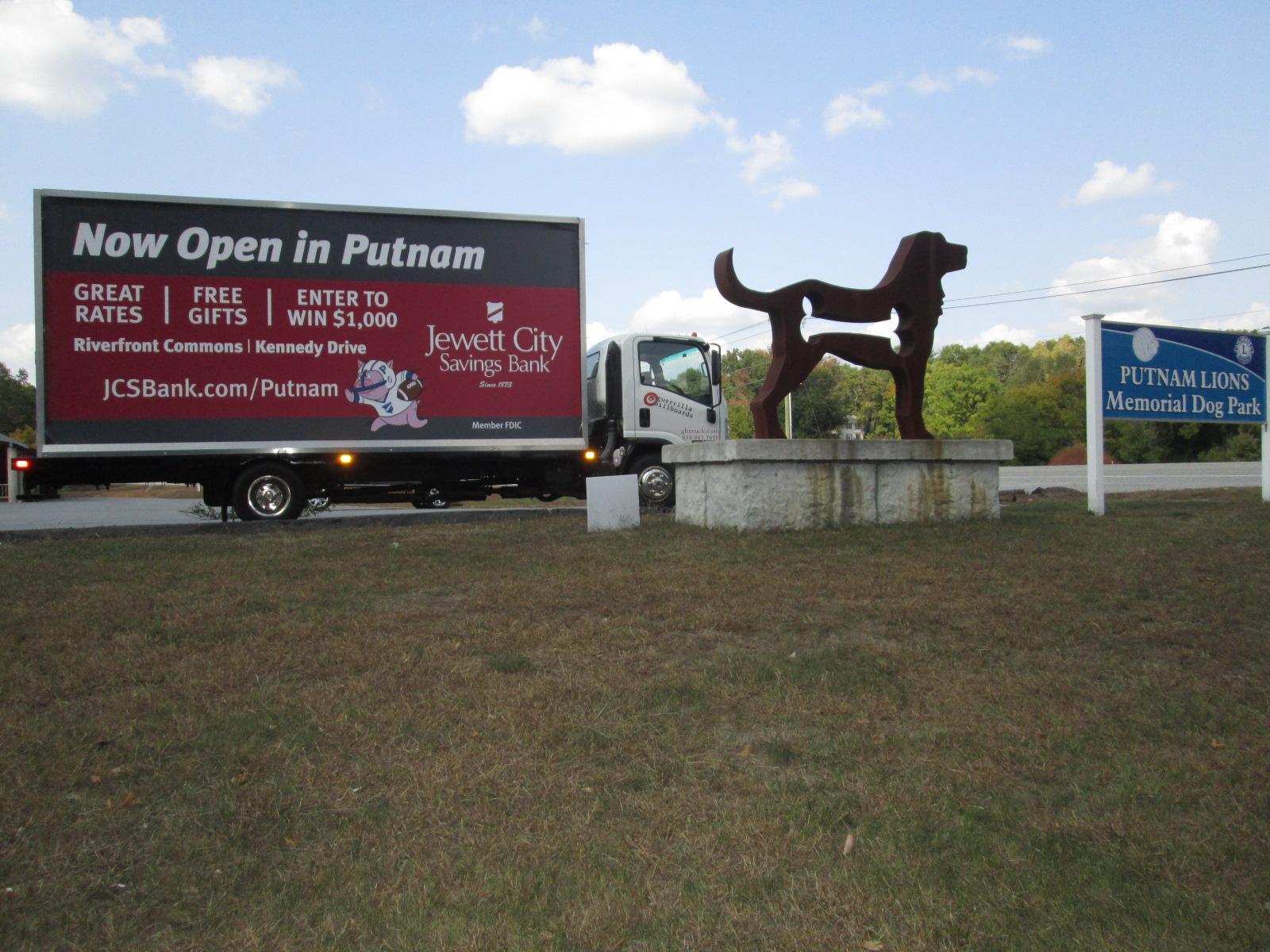 Billboard truck in Putnam CT
