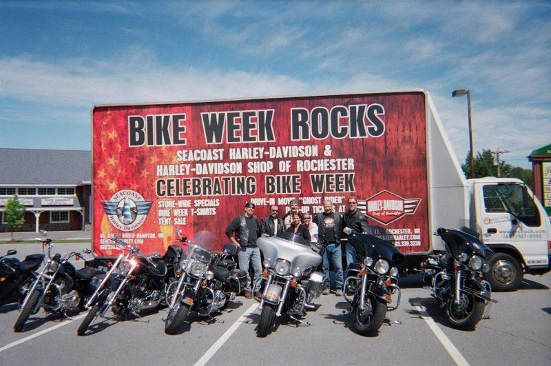 Mobile billboard at bike week