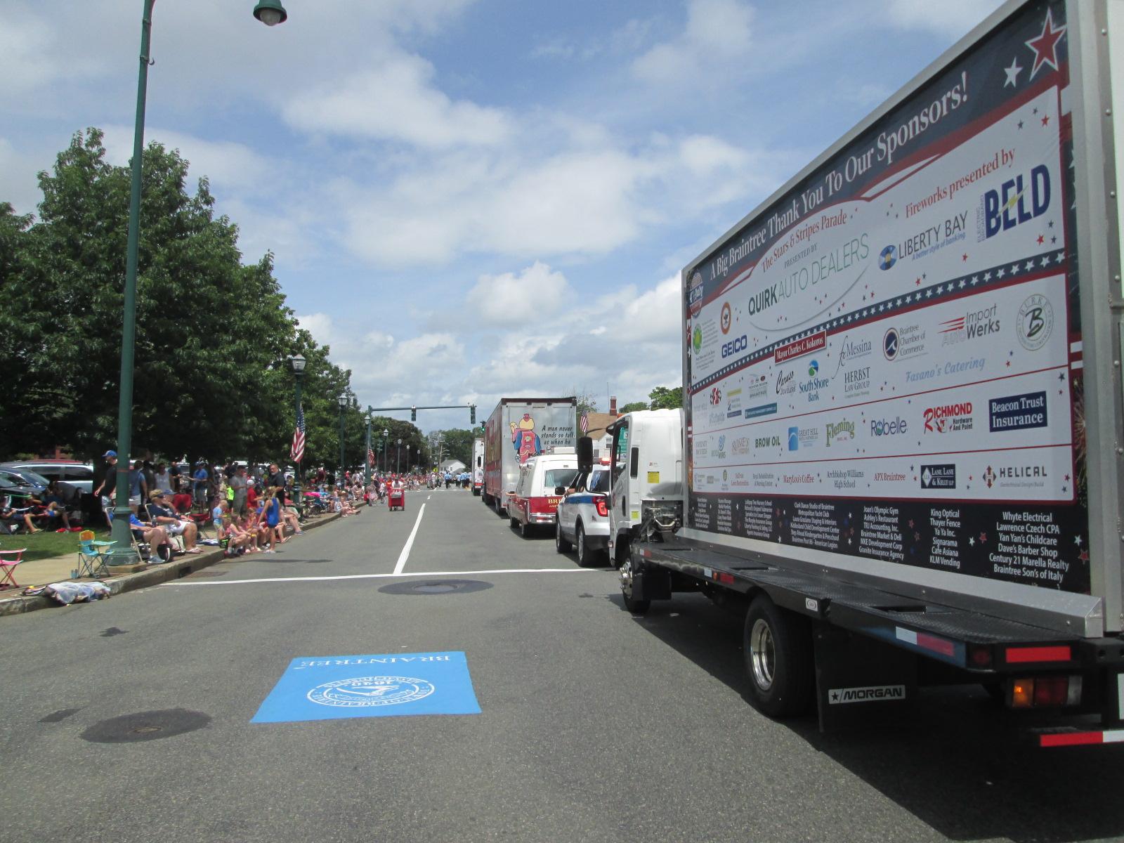 2021 Braintree July 4th Parade Mobile Billboard