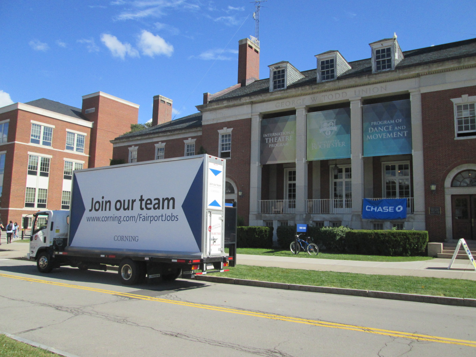 Join Our Team Mobile Billboard at the University of Rochester