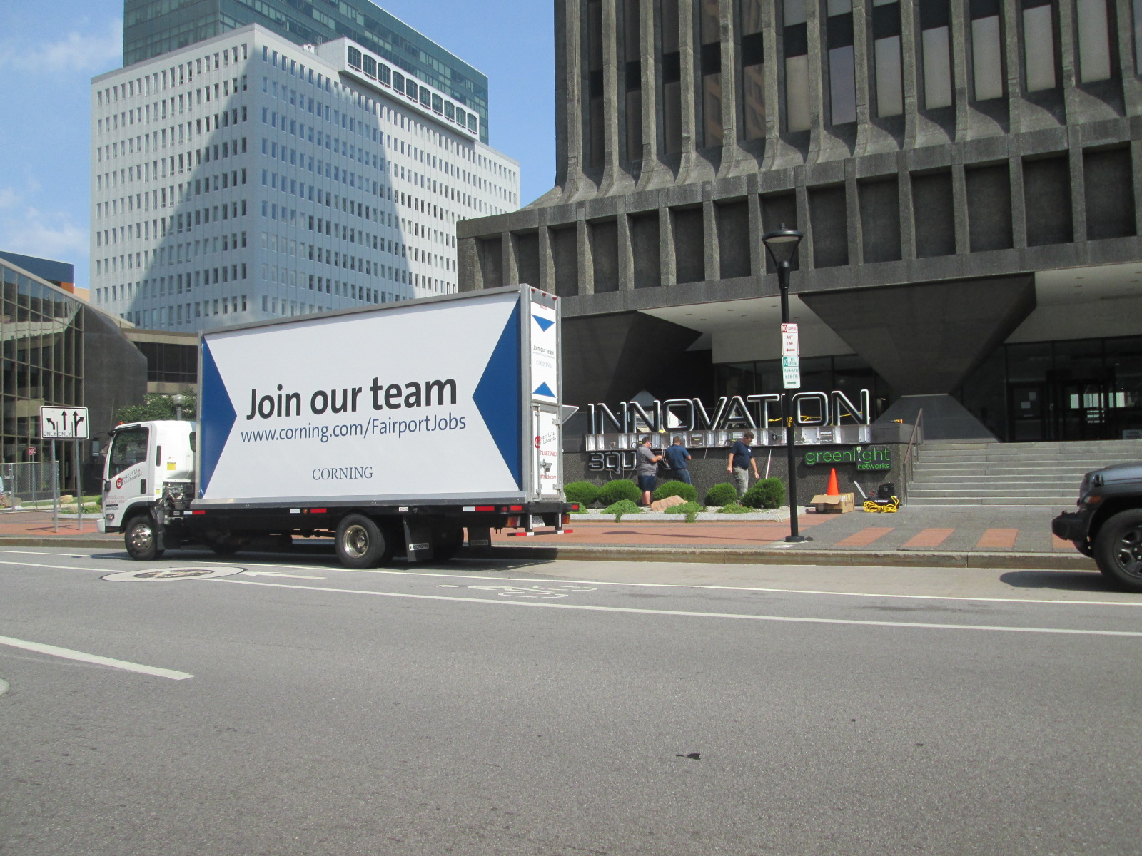Join Our Team Mobile Billboard at Innovation Square