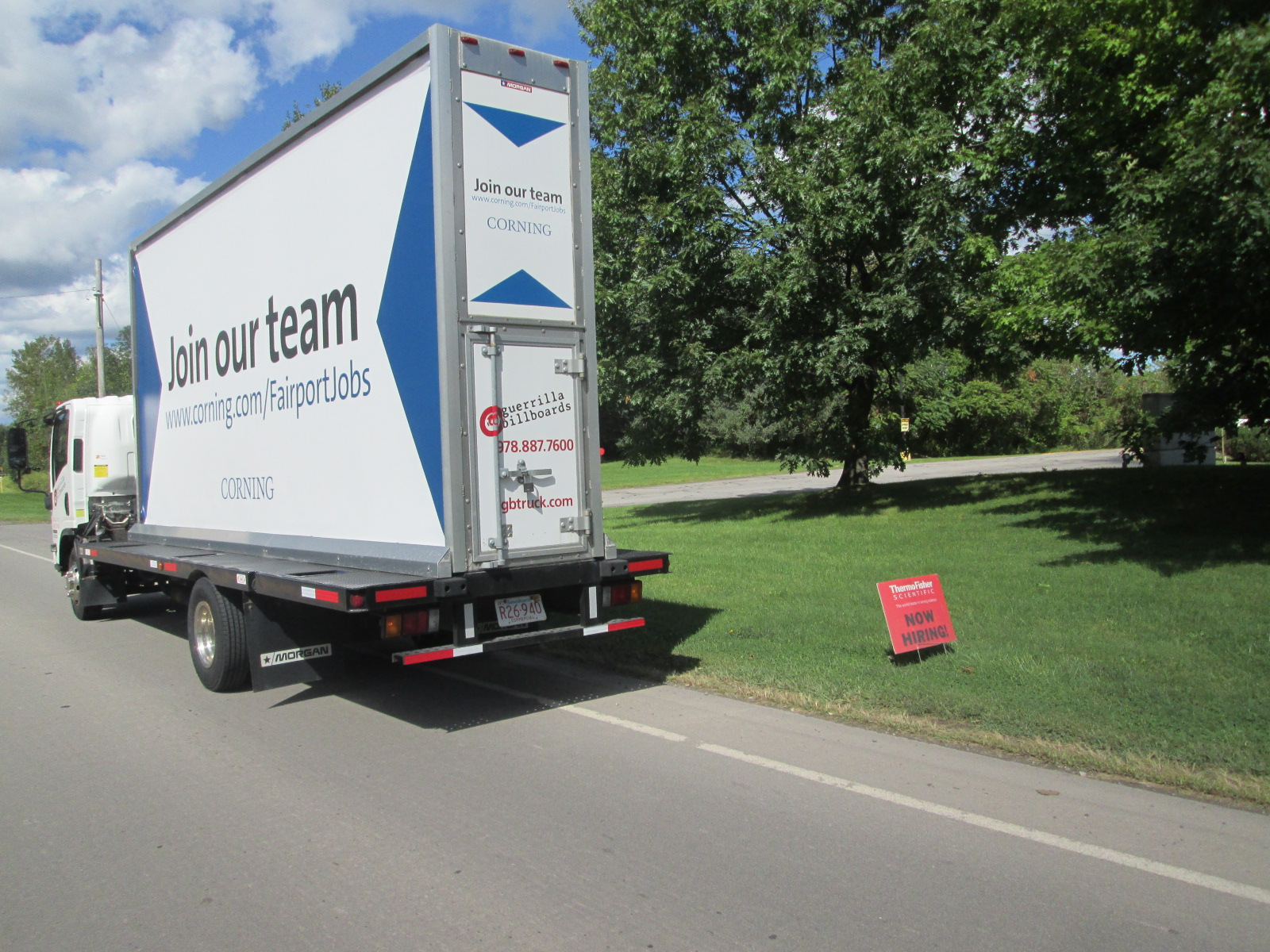 Join Our Team Mobile Billboard at Thermo Fisher